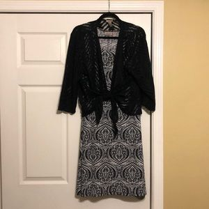 Chico's dress and lace jacket